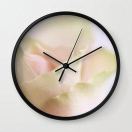 Pale pink macro rose Wall Clock