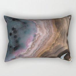 Multi-colored Agate slice Rectangular Pillow