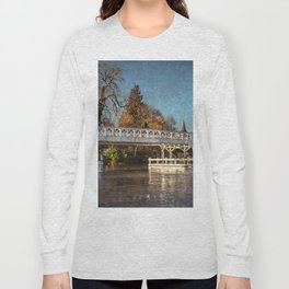 The Toll Bridge At Whitchurch-on-Thames Long Sleeve T-shirt