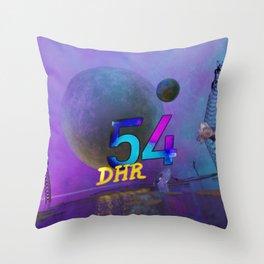 Space Ruin (DHR54) Throw Pillow