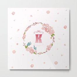 Letter K Metal Print