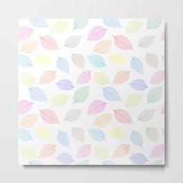 Seamless  pattern with skeleton leaves.. Endless texture Metal Print