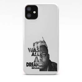 Urban Biggie Smalls Lyrics/Text Font iPhone Case