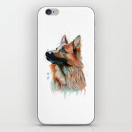German Shepherd Watercolor, German Shepherd Painting, German Shepherd iPhone Skin