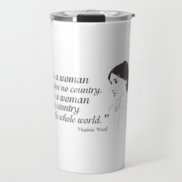 Virginia Woolf Feminist Quote Travel Mug