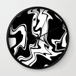 Stripes, distorted 7 Wall Clock