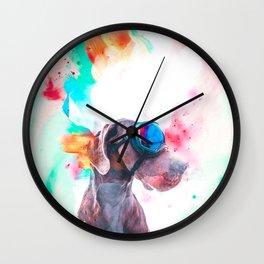 Great Dane Illustration Wall Clock
