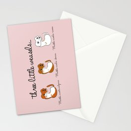 Three Little Weasels... Stationery Cards