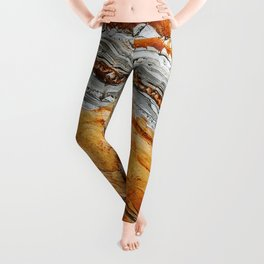Gray Copper Marbled Petrified Wood Leggings