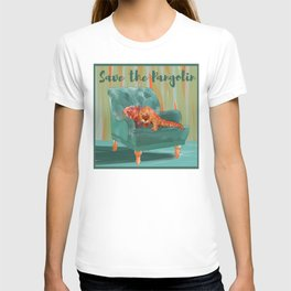 animals in chairs #5 the Pangolin T-shirt