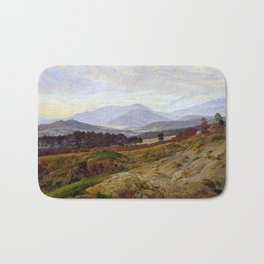 Caspar David Friedrich Mountain in Riesengebirge Bath Mat