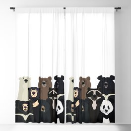 Bear family portrait Blackout Curtain