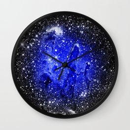 Galaxy : Pillars of Creation Blue Wall Clock