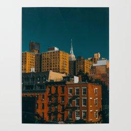 New York City Skylin Poster