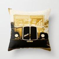 car Throw Pillows featuring Car by Mikhaelle A.