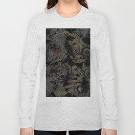 Circles in Black Long Sleeve T-shirt