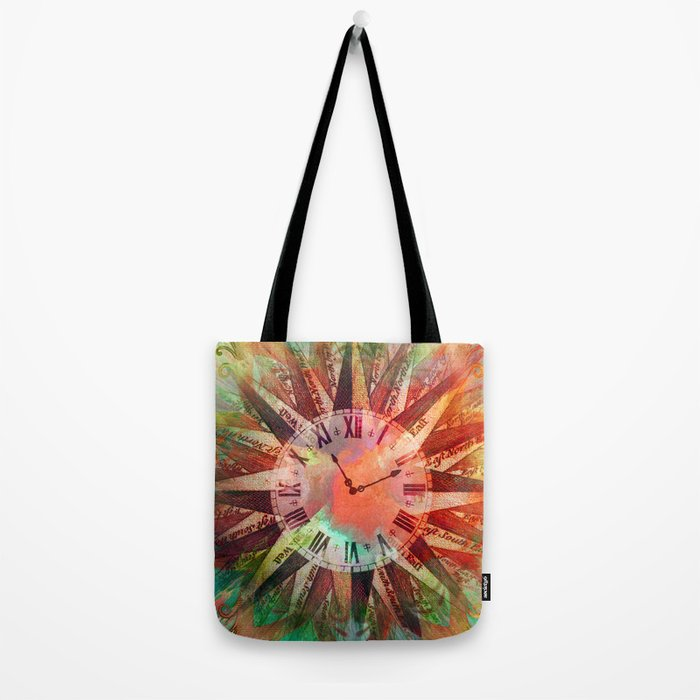 Synchronicity 11:11 Clock Face Time Design Tote Bag