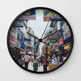 Streets of the Market, Colombo, Sri Lanka Wall Clock