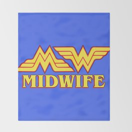 MidWife (Comic Version) Throw Blanket