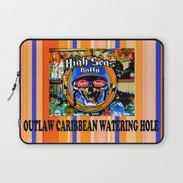 SKULL OUTLAW CARIBBEAN SALOON AND BAR Laptop Sleeve