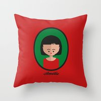 amelie Throw Pillows featuring Amelie by Juliana Motzko