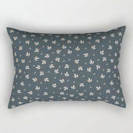 Vintage Modern Leaves and Berries Rectangular Pillow