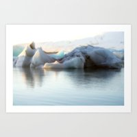 iceland Art Prints featuring Iceland by Tamara Rogers