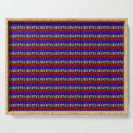 French Revolution Typographic Pattern Design Serving Tray