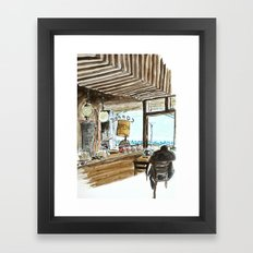 A view to the sea Framed Art Print