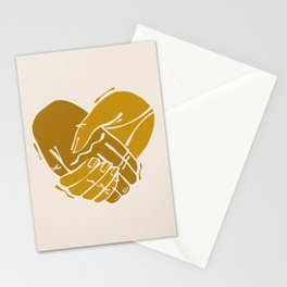 Heart Hands | Yellow on Ivory | Alex Gold Studios Stationery Cards