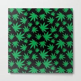 Weed Leaf Pattern  Metal Print