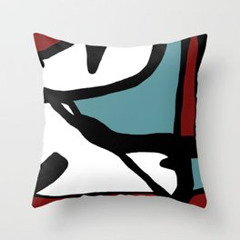 Abstract Painting Design - 1 Throw Pillow