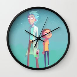 Ricky and Morti Wall Clock