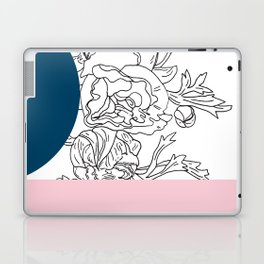VESSEL - Floral Ink in Peacock & Pink - Cooper and Colleen Laptop & iPad Skin