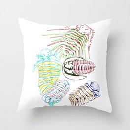 Silurian and Devonian Era Trilobites Throw Pillow