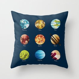 Away from Home and Back - dark Throw Pillow