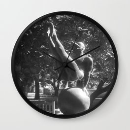 """The """"Wings of the City"""" sculpture exhibit by Mexican Artist Jorge Marín 1 Wall Clock"""