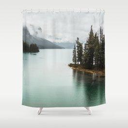 Landscape Photography Maligne Lake Shower Curtain