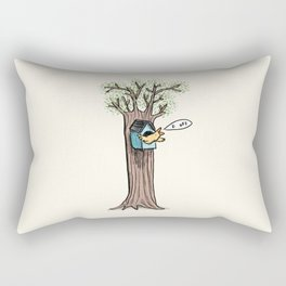 Rude Bird Rectangular Pillow