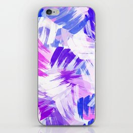 Abstract Purple Paint Pattern iPhone Skin