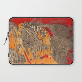 The tree of life gold abstract Laptop Sleeve