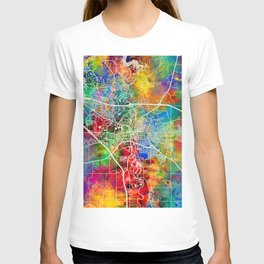 Iowa City Map T-shirt