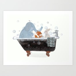 little bath time Art Print