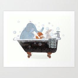 little bath time Art Print