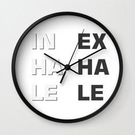 Inhale- Exhale (Inex- Haha- Lele) Wall Clock