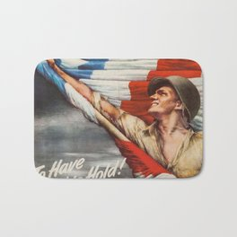 Vintage war bonds poster Bath Mat