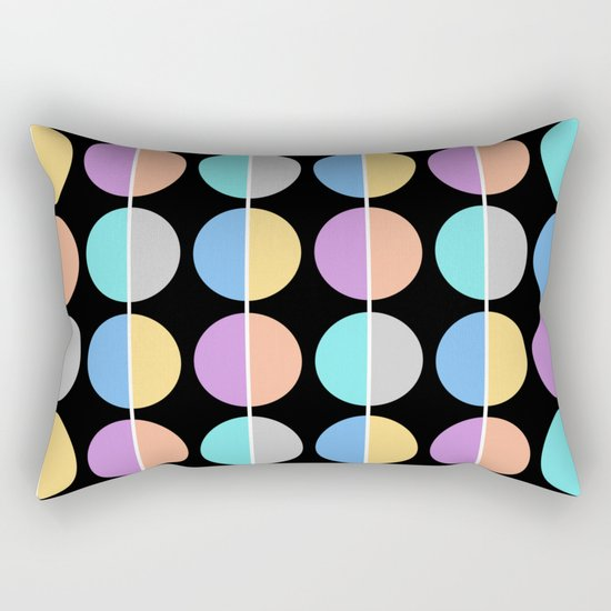 BACK TO THE 70's (abstract geometric pattern) Rectangular Pillow