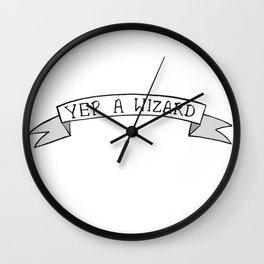 Yer A Wizard Wall Clock