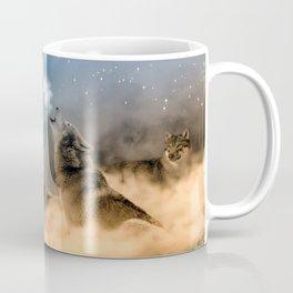 Howling Wolves Moonlight Wolf Wild Animals Moon Coffee Mug