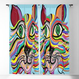 Grinning Cat Blackout Curtain